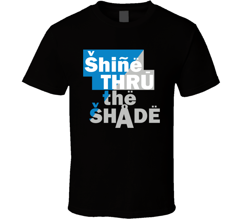 Cam Newton Carolina Quarterback Shine Thru The Shade Football T Shirt