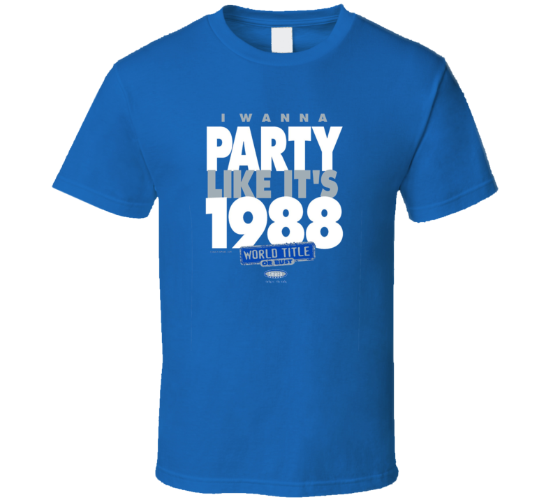Los Angeles Dodgers 2017 World Series Take Me Back To 1988  Victory T Shirt