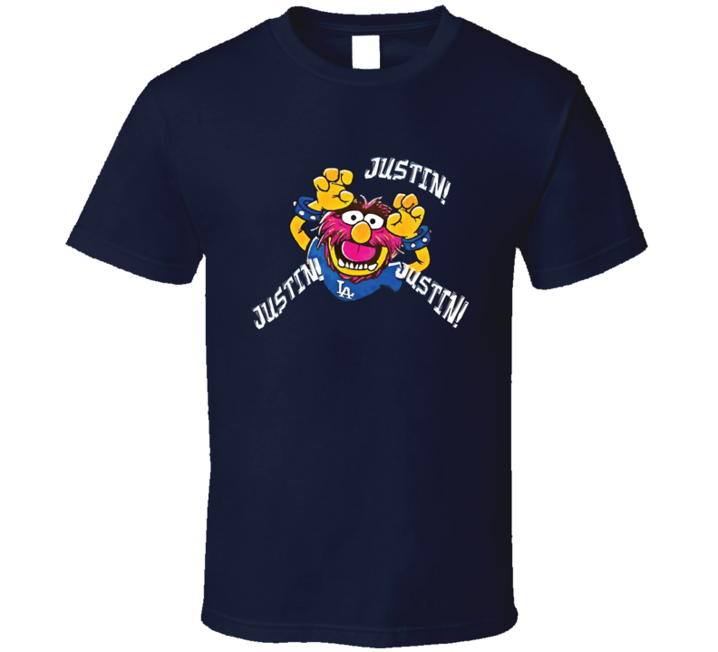 Justin Turner La Dodgers Mvp Animal Muppets Cartoon Funny World Series 2017 Baseball Fan T Shirt