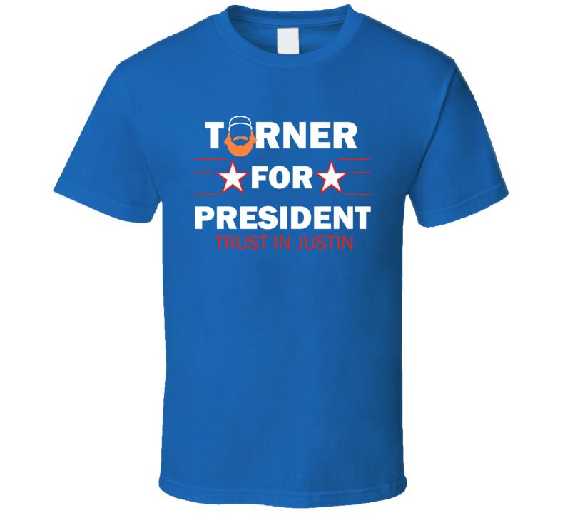 Justin Turner la dodgers MVP for president chingon rojo baseball tshirt