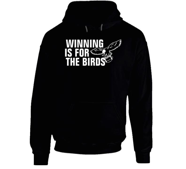 Bradley Cooper Philadelphia Eagle Fan Winning Is For The Birds Football Hooded Sweatshirt