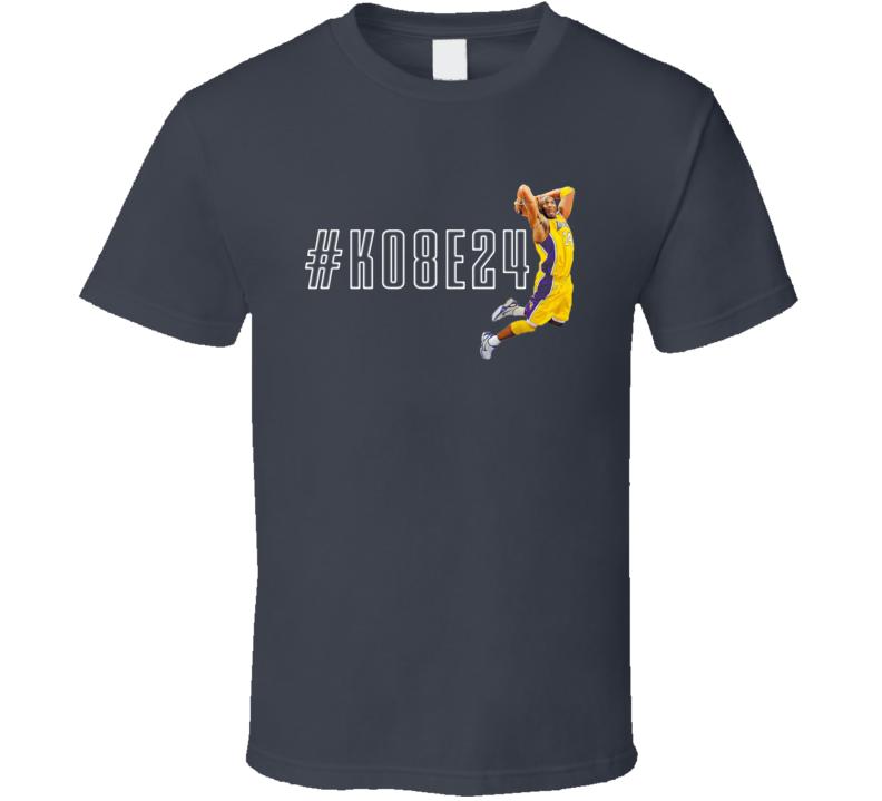 Kobe Bryant Retired Jersey Basketball Tag T Shirt