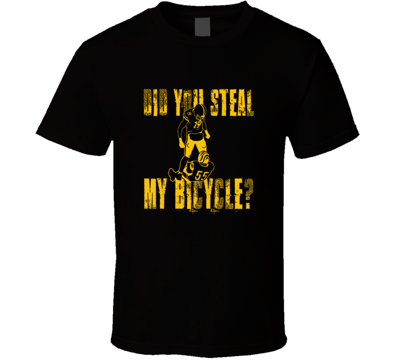 JuJu Smith-Schuster funny did you steal my bicycle Pittsburgh football cool fan t shirt