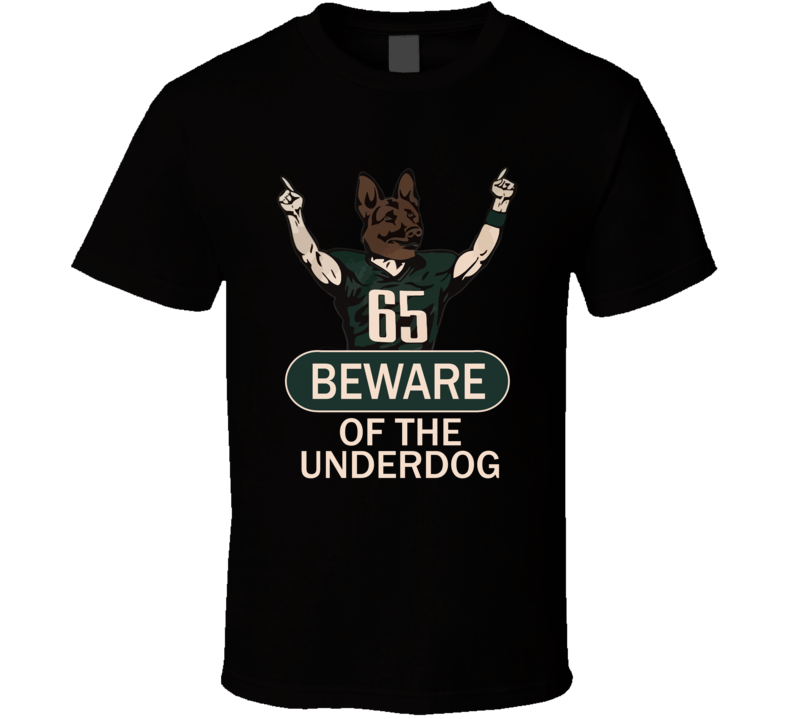 Beware Of The Underdog Philadelphia Superbowl Fly Eagles Fly Cool Football Fan T Shirt