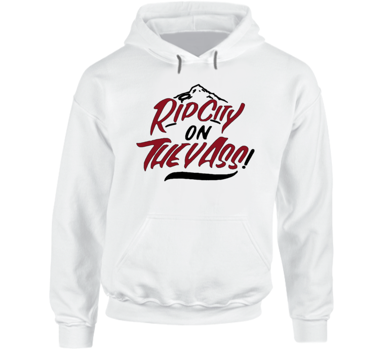 Portland Basketball Ripcity On They Ass Cool Fan White Hoodie