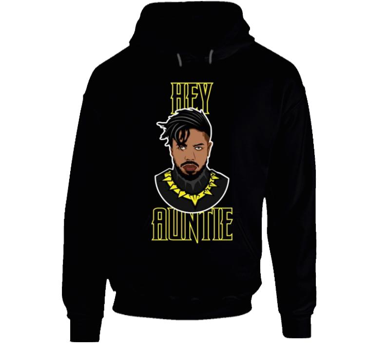 Hey Auntie killmonger Black Panther Movie Fan Gift T Shirt