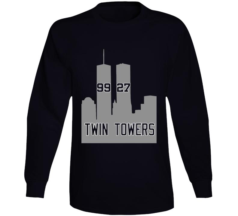 Aaron Judge Giancarlo Stanton Twin Towers New York Baseball Cool Fan Long Sleeve Shirt