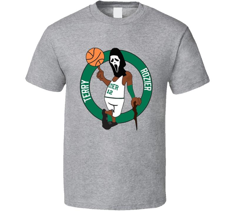 Scary Terry Rozier Boston Basketball Fan Logo Cool T-shirt