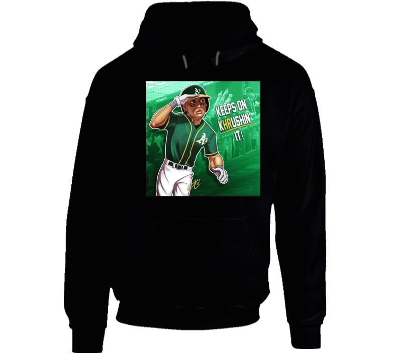 Keep on krushin it Oakland athletics 50th Baseball Hoodie
