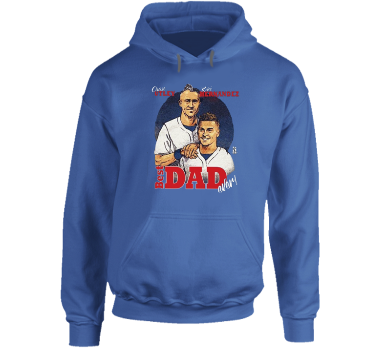 Chase Utley Kike Hernandez Best Dad Ever Father-son  Los Angeles Baseball Funny Cool Fan Hoodie