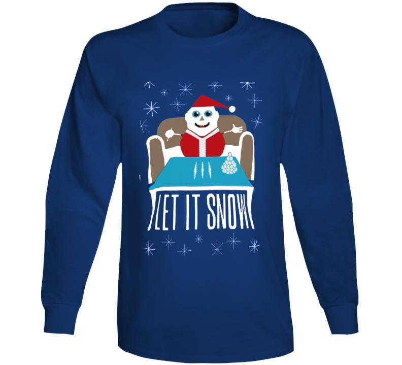 Cocaine Santa Let It Snow Christmas Funny Walmart Parody Cool Long Sleeve