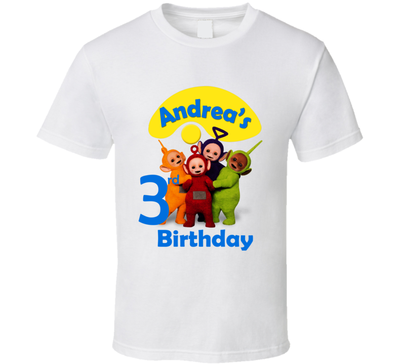 Teletubbies Andrea's 3rd Birthday T Shirt