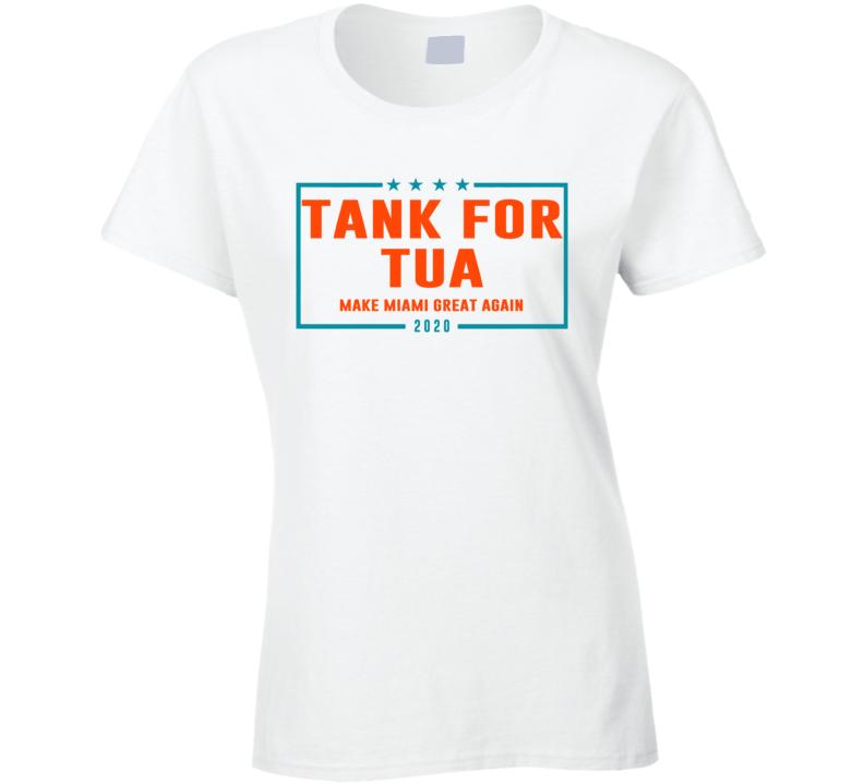 Tua Taovailoa Miami Qb Tank For Tua Football Cool Fun Ladies T Shirt