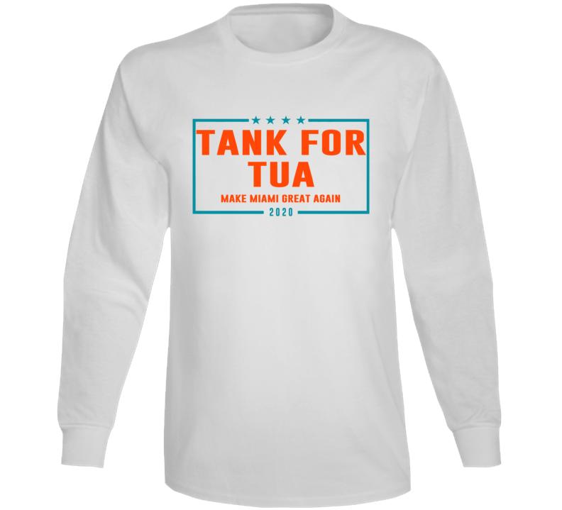 Tua Taovailoa Miami Qb Tank For Tua Football Cool Fun Long Sleeve