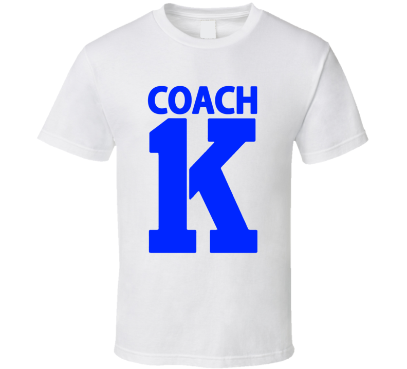 Coach Mike Krzyzewski 1000 Game Wins Duke Basketball T Shirt