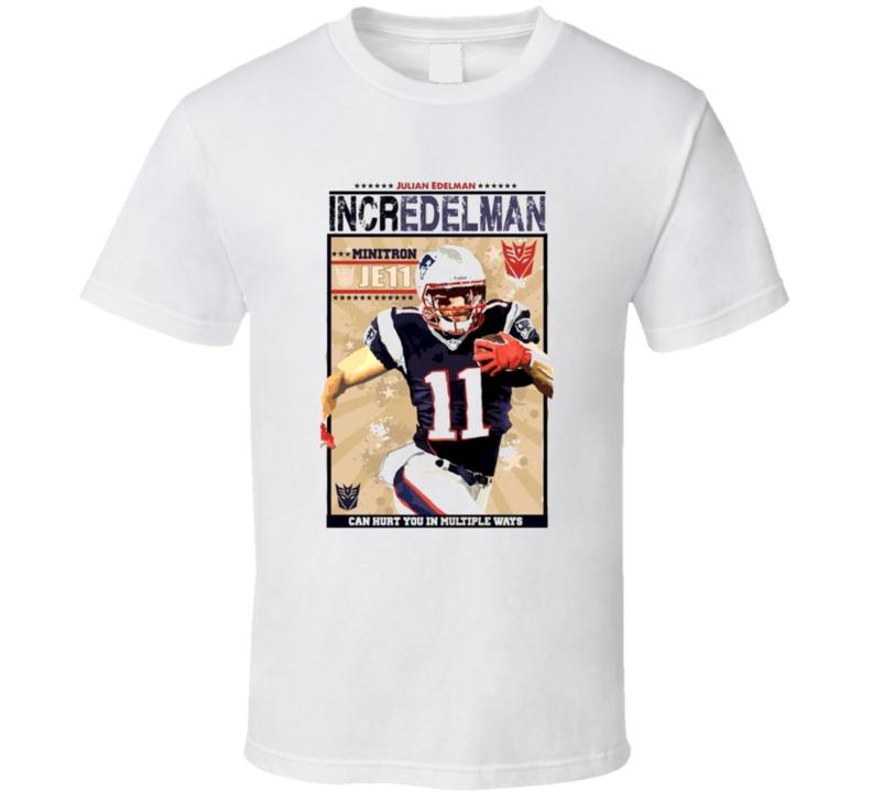 Incredelman 11 New England Football Vintage Look Julian Edelman T Shirt