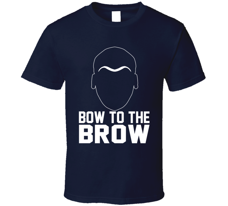 Bow To The Brow Anthony Davis Unibrow Funny New Orleans Basketball T Shirt
