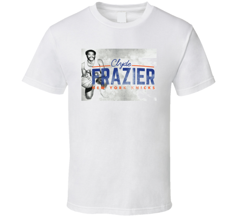 Clyde Frazier Vintage Look Garden Of Eden 30 For Film New York Basketball T Shirt
