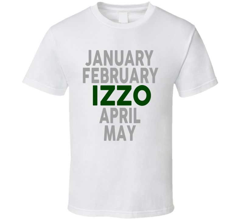 January February Izzo April May Green Tom Izzo Michigan Basketball T Shirt