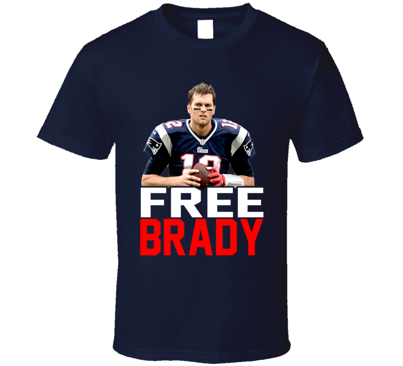 Free Tom Brady Suspension New England Football Fan T Shirt