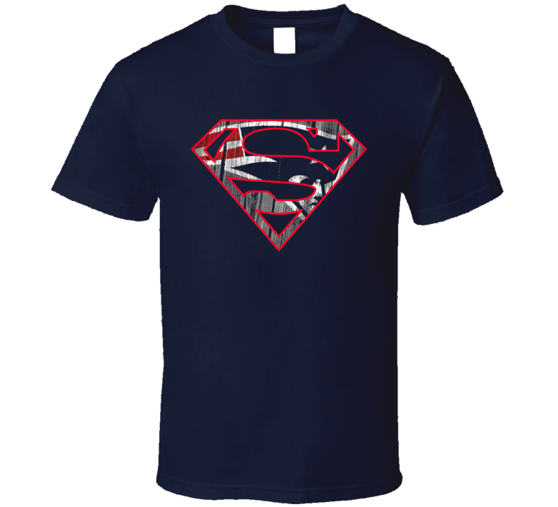 Superman New England Patriots Logo Parody Football Tom Brady Fan Navy T Shirt