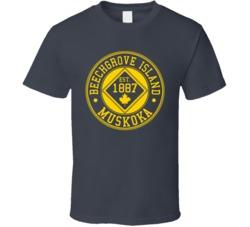 Charcoalgrey Beechgrove Island 125 Year Anniversary T Shirt