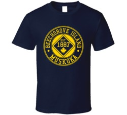 Navy Beechgrove Island 125 Year Anniversary T Shirt