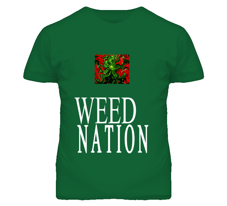 Weed Nation funny mens fitted T shirt