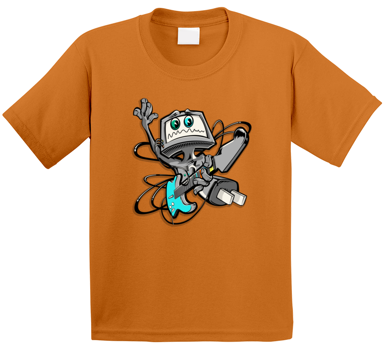 Alien Playing Guitar Cartoon T Shirt