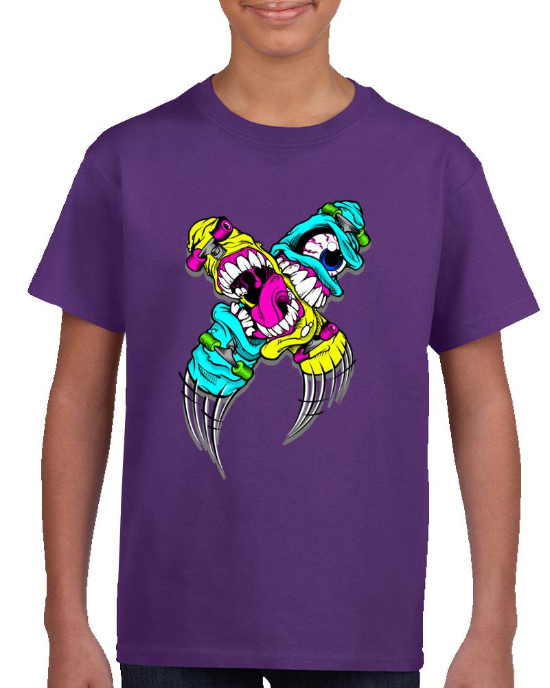 Monster Skateboards T Shirt