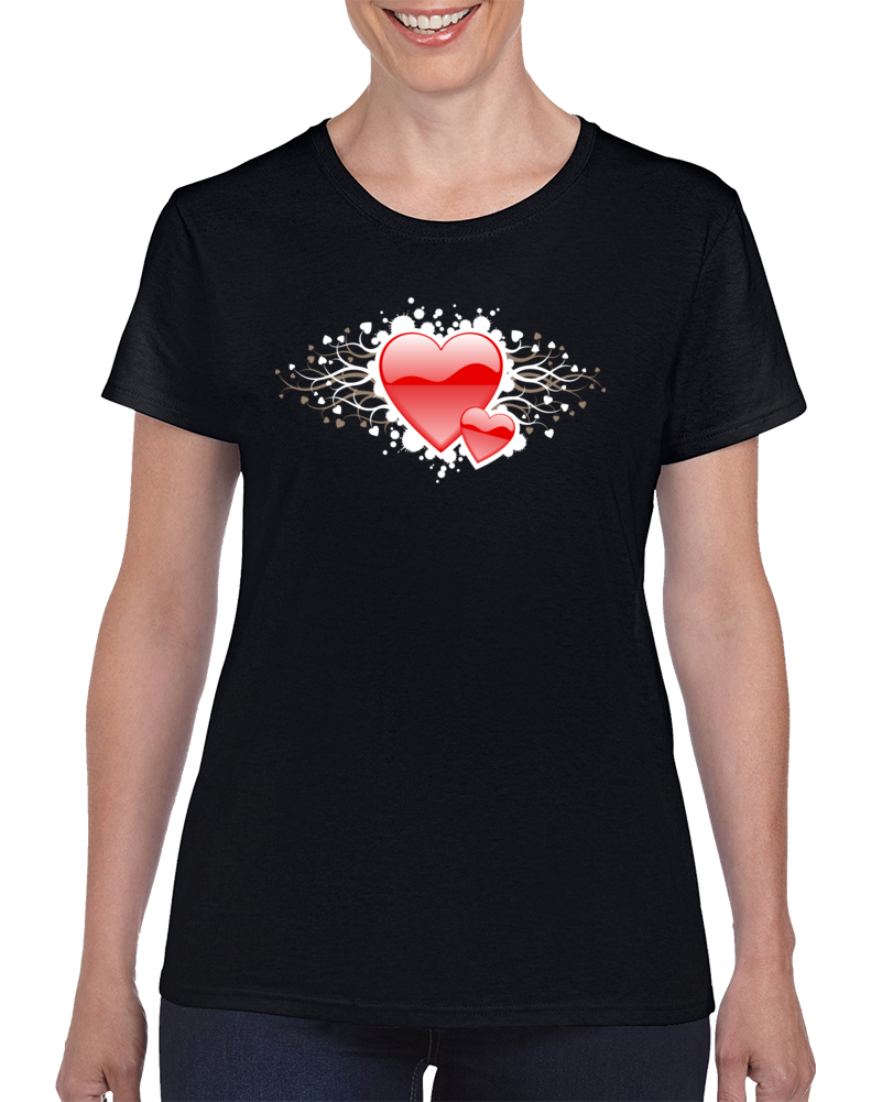 Decorative Heart Gift T Shirt