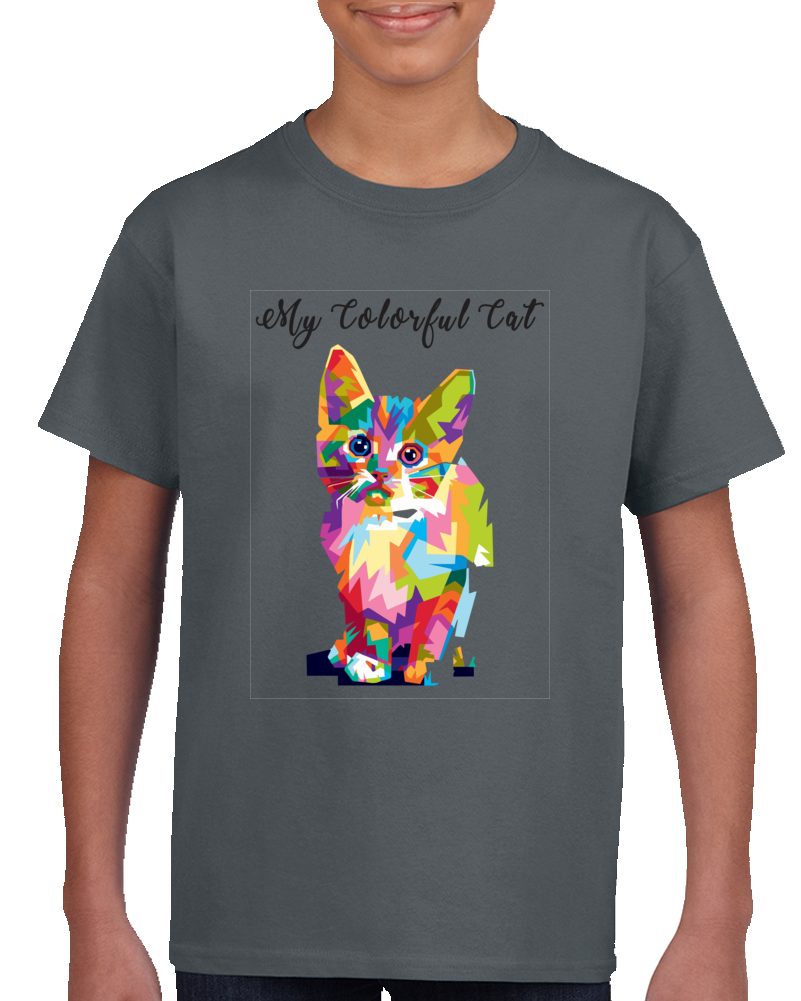 Colorful Cat T Shirt