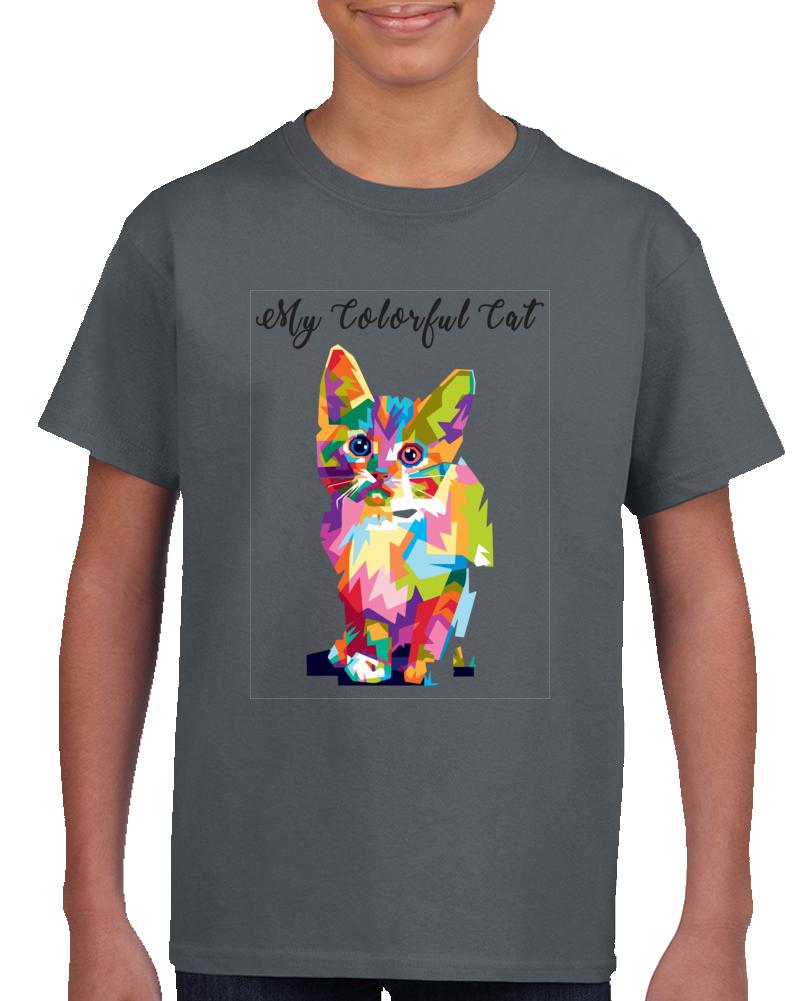 Colorful Cat T Shirt