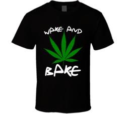 Funny Marijuana wake and bake T Shirt