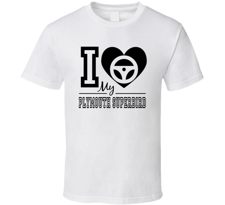 I Heart My Plymouth Superbird T Shirt