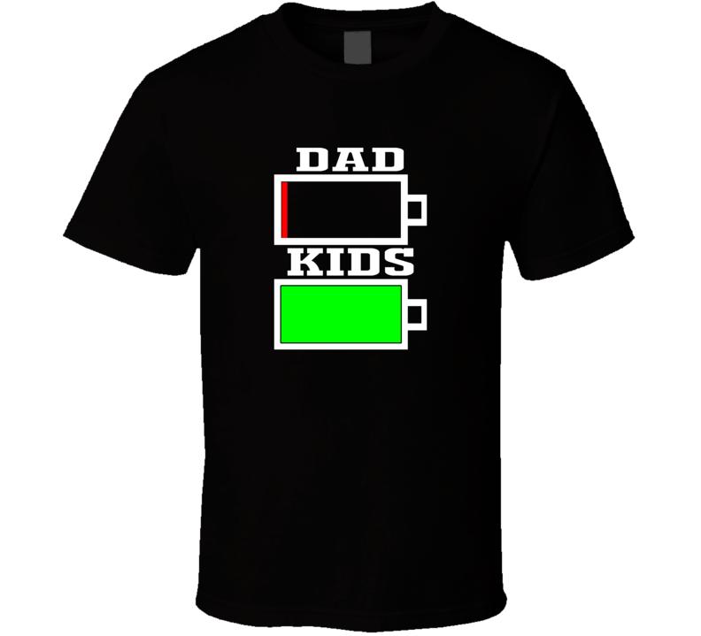 Dad Vs Kids Battery Power T Shirt