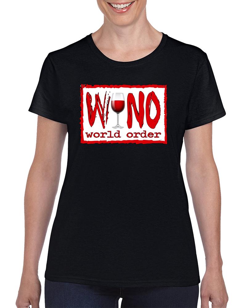 Wino World Order Red  T Shirt