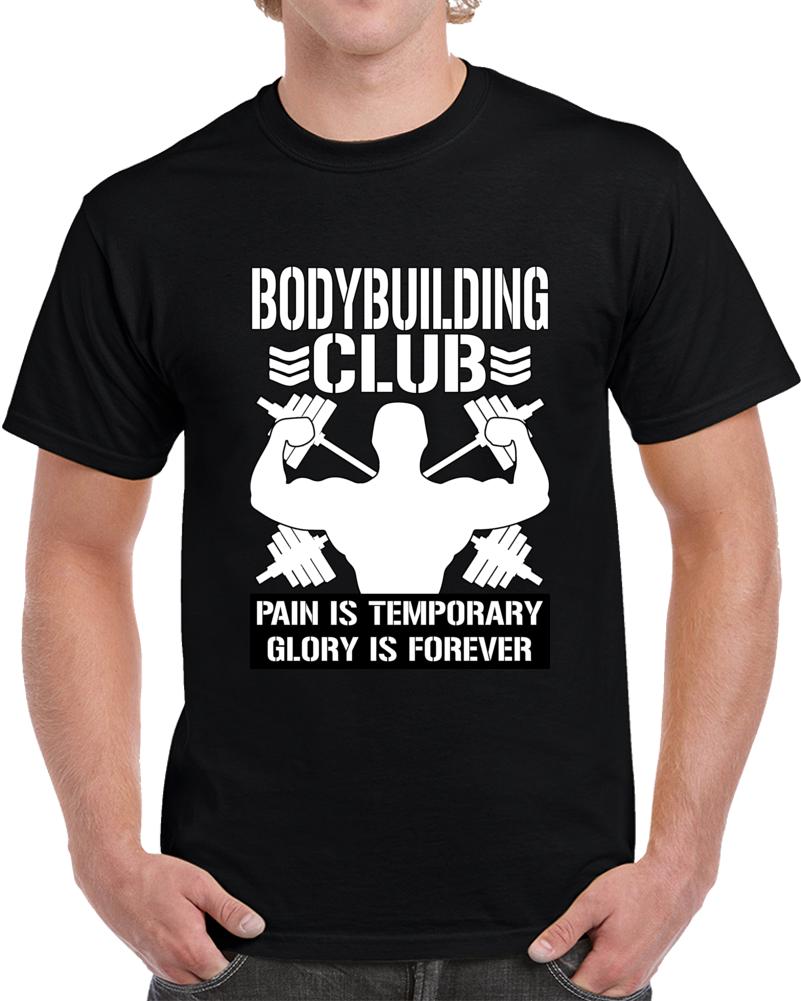 Bodybuilding Club White Text T Shirt
