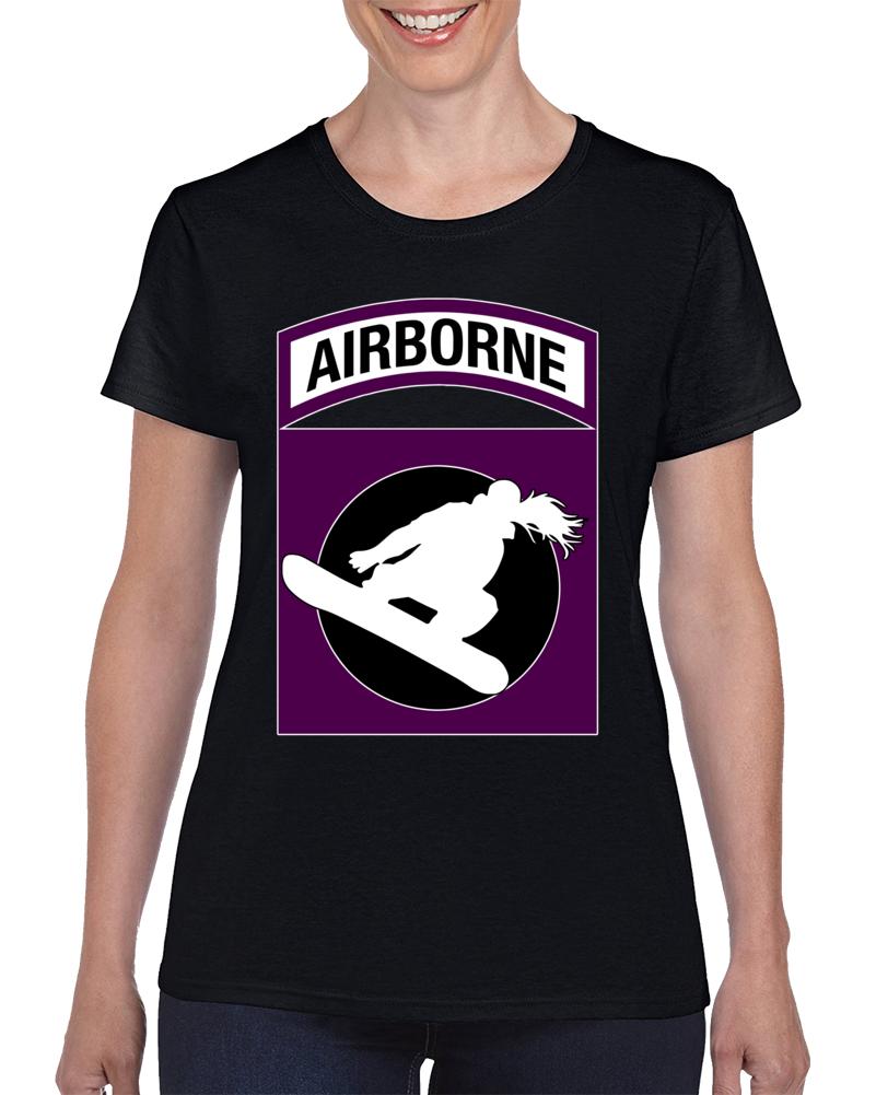 Airbone Snowboarding Woman T Shirt