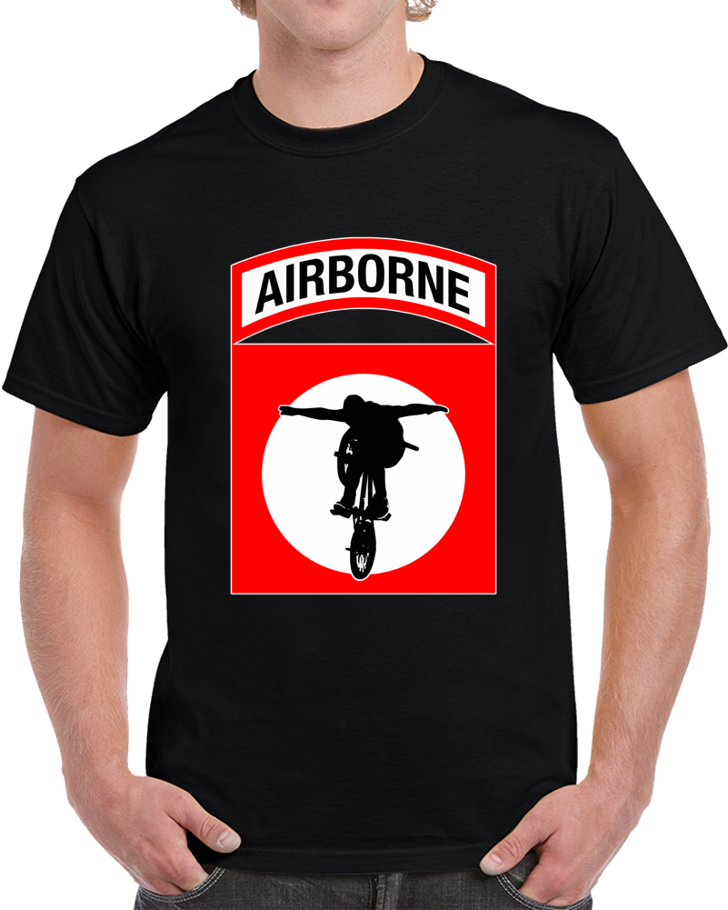 Airborne Bmx Red  T Shirt
