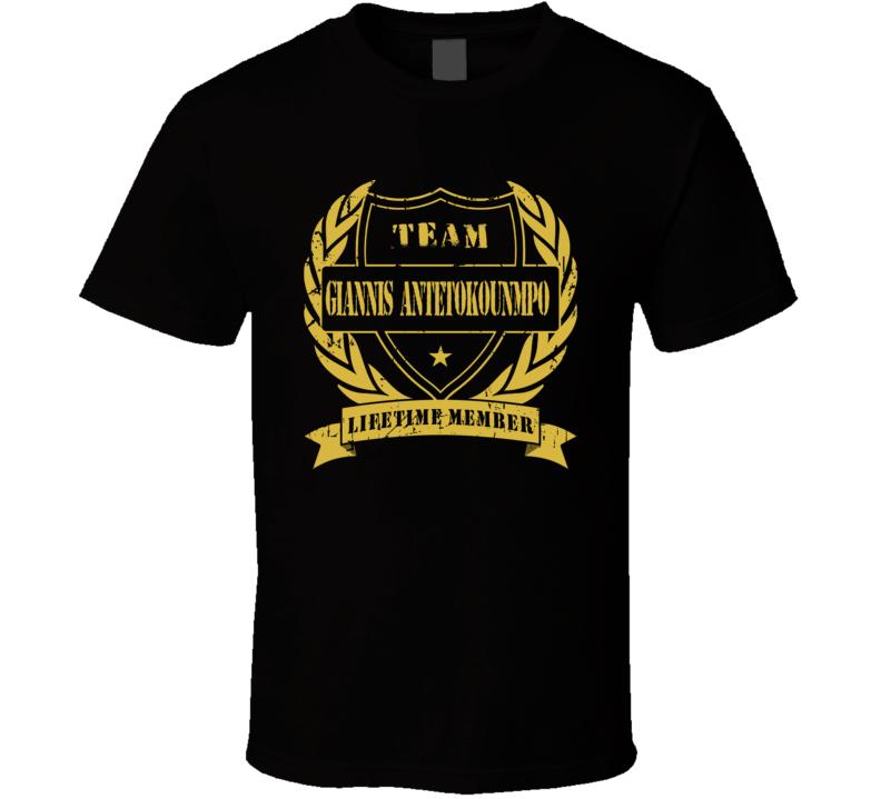 Team Giannis Antetokounmpo  Lifetime Member T Shirt