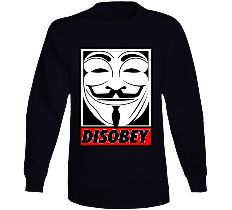 Anonymous Disobey  Long Sleeve