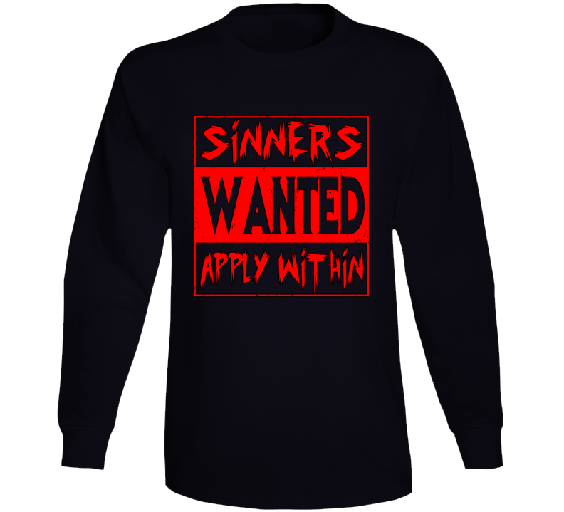 Sinner's Wanted Long Sleeve