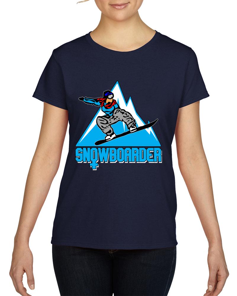 Woman Snowboarder  T Shirt