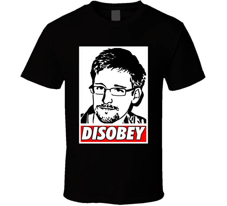 Snowden Disobey Nsa  T Shirt
