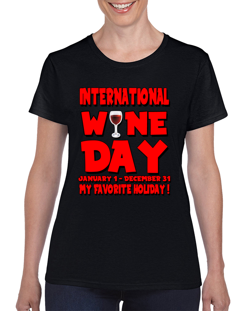 International Wine Day 1.0 Red T Shirt