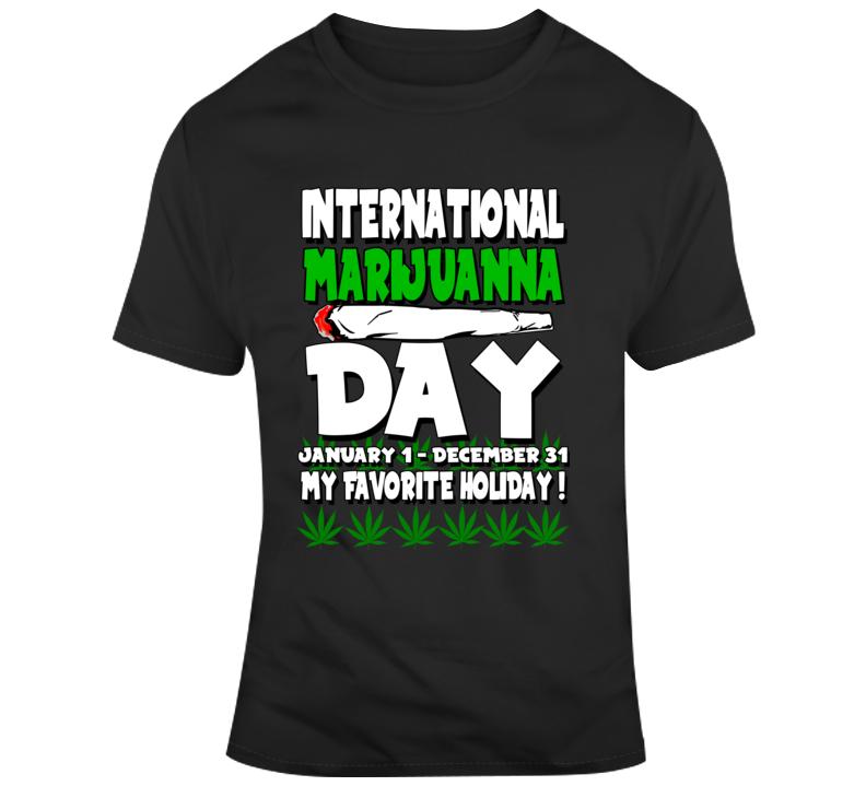International Marijuanna Day  T Shirt