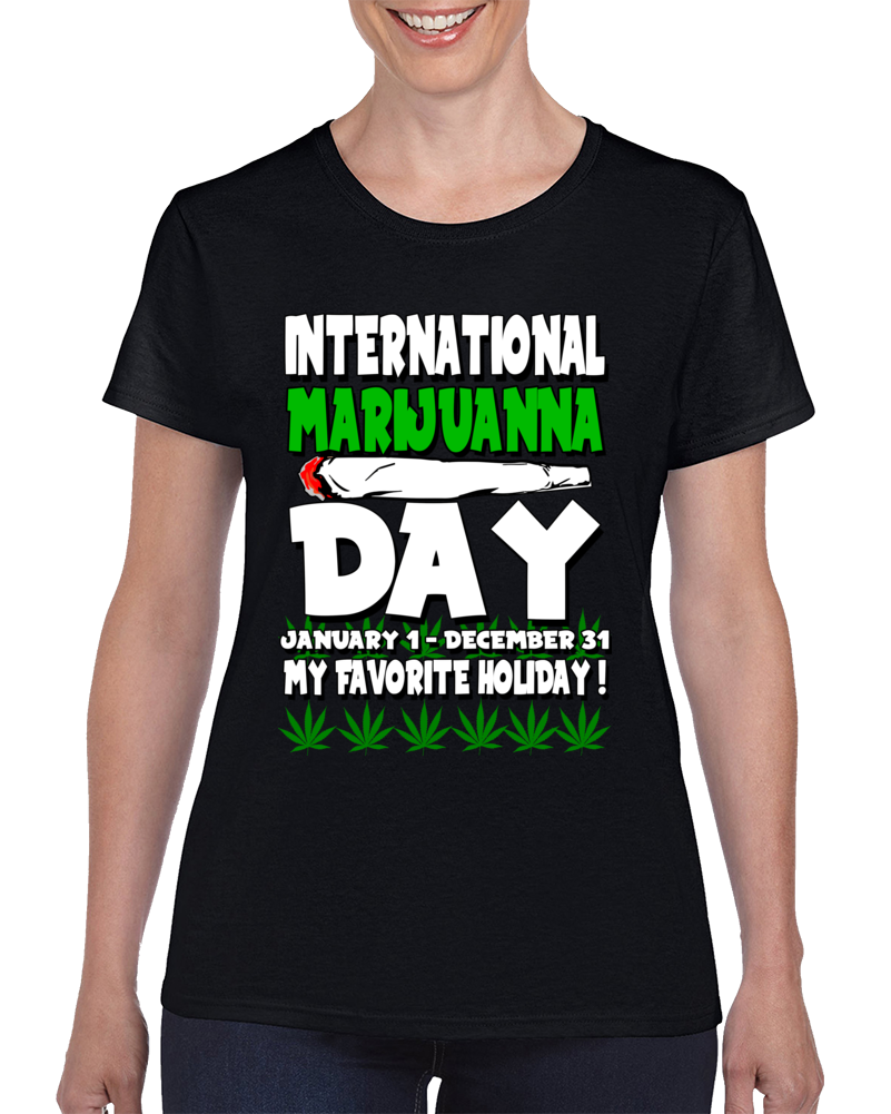 International Marijuanna Day Ladies  T Shirt
