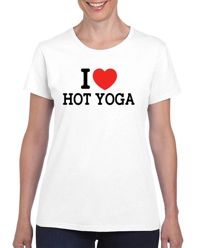 I Heart Hot Yoga T Shirt