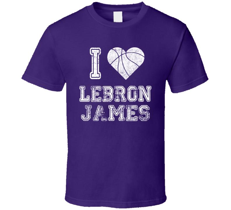 I Heart Lebron James T Shirt